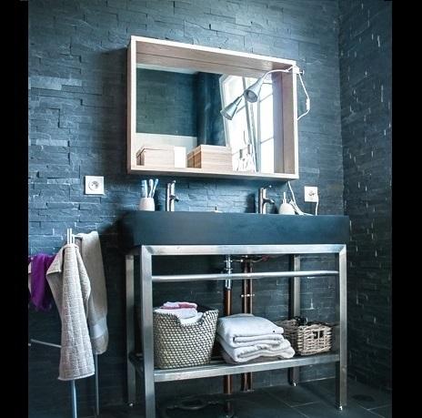 salle de bain ardoise parement 1 as de carreaux le blog. Black Bedroom Furniture Sets. Home Design Ideas